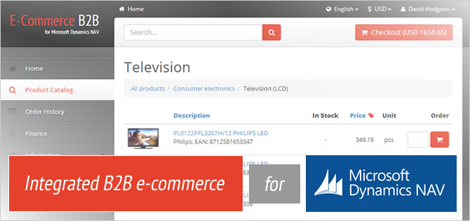 A cloud-based ISV web shop for Navision